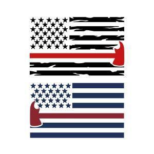 Firefighter clipart flag. American svg cuttable design