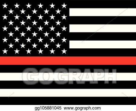 Firefighter clipart flag. Eps vector support stock