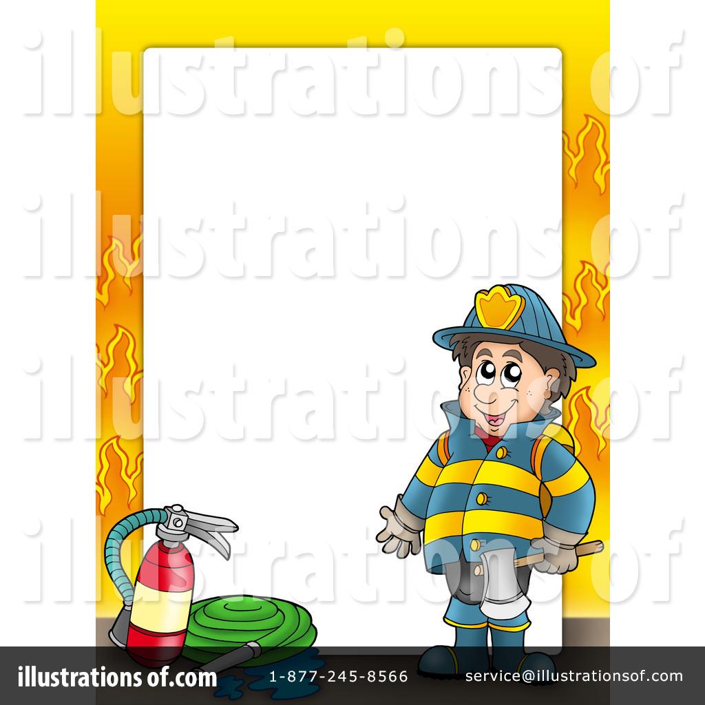 Firefighter clipart frame. Fireman illustration by visekart