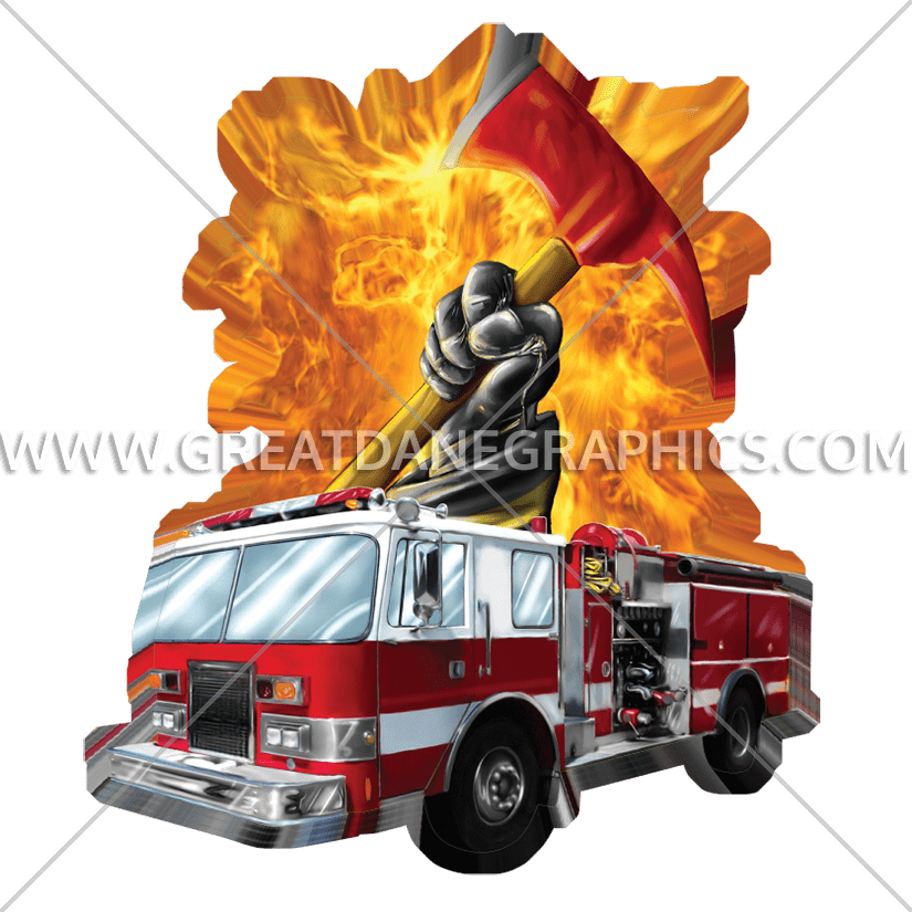 Glove clipart firefighter. Truck production ready artwork
