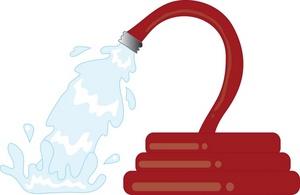 Fireman clipart water hose. Fire free download best