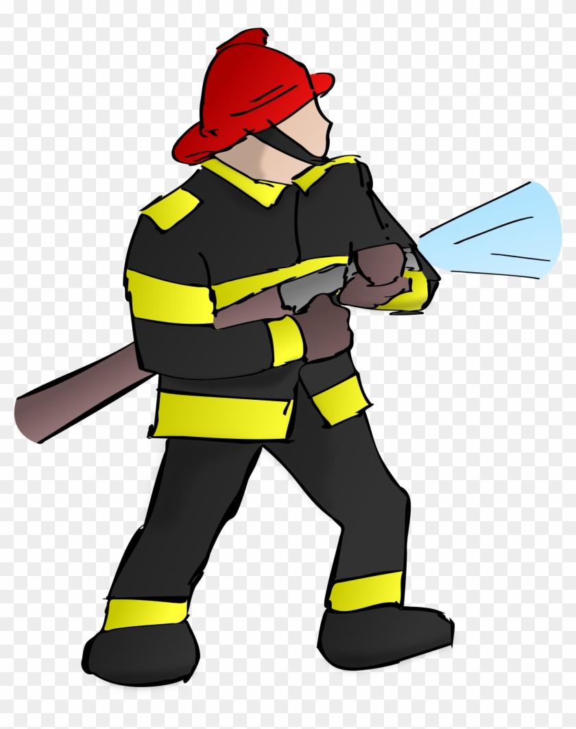 Fireman clipart transparent. Firefighter fire hose png