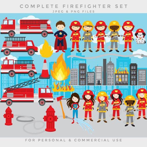 Firemen fire engine clip. Fireman clipart male firefighter