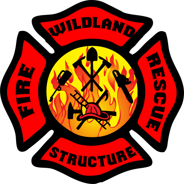 Wildland structure fire and. Firefighter clipart nozzle