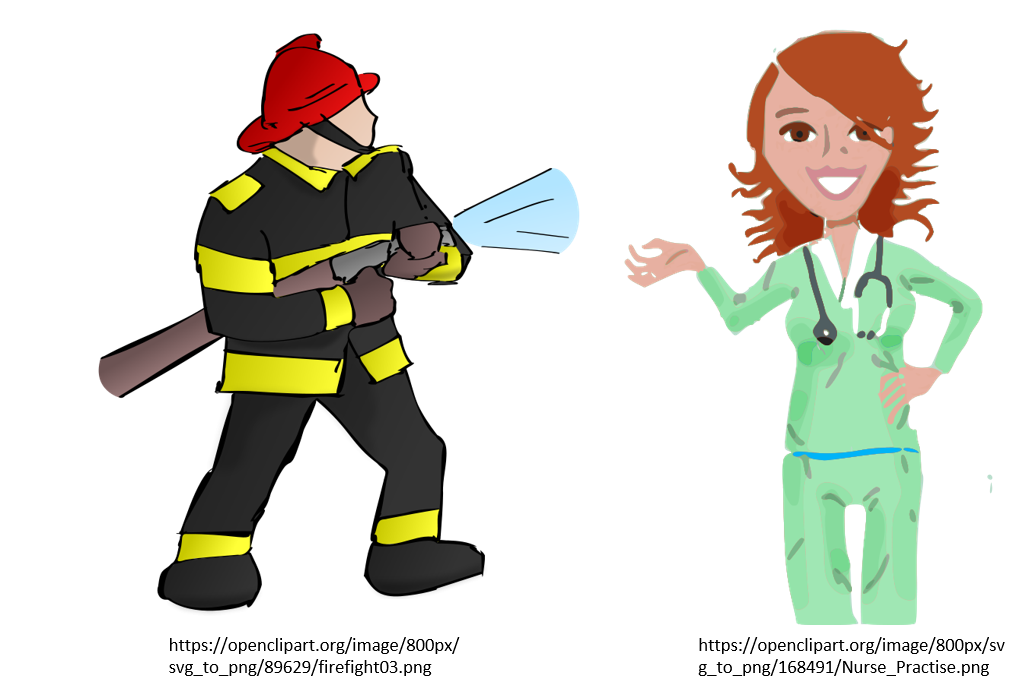 Life is for living. Water clipart firefighter