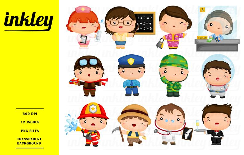 Firefighter clipart ocupation. Job occupation clip art