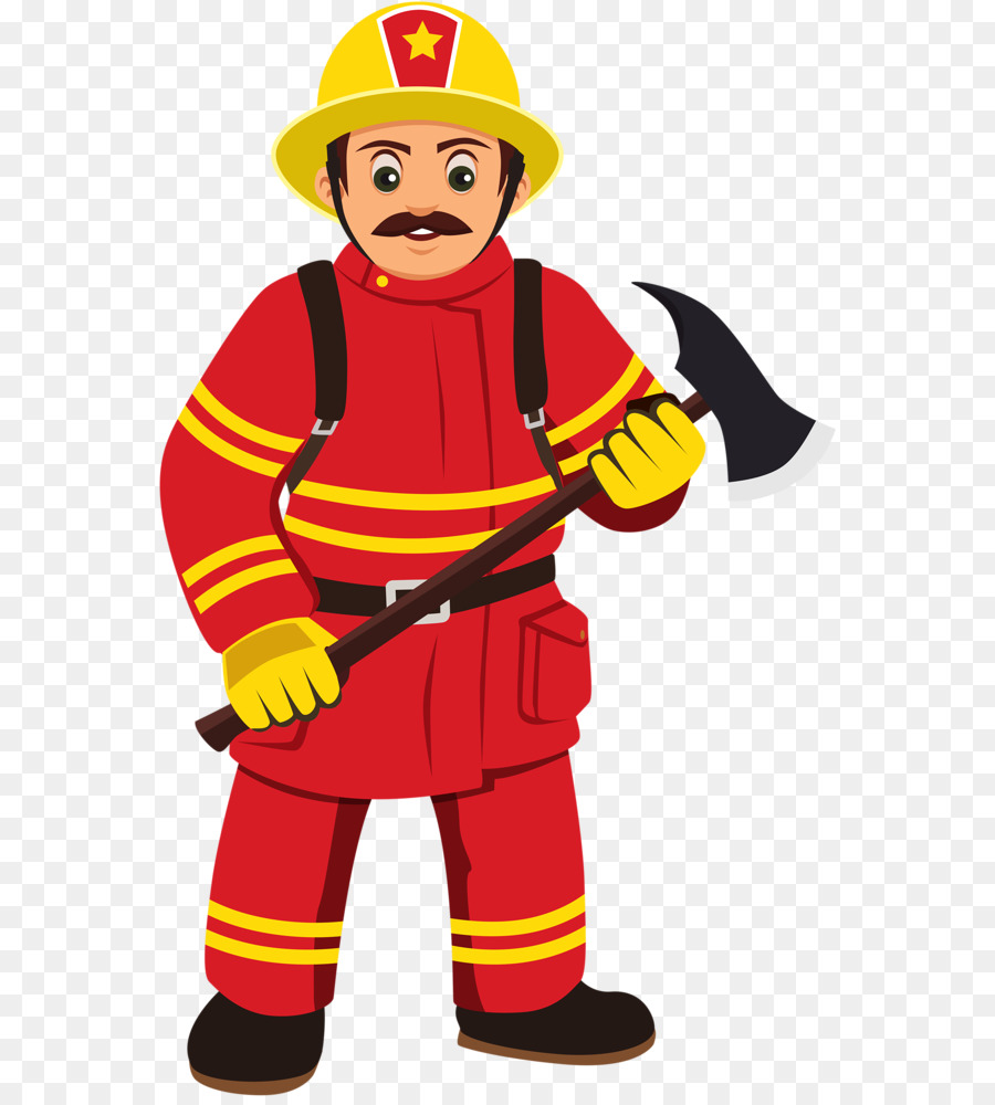 Fireman cartoon . Firefighter clipart ocupation