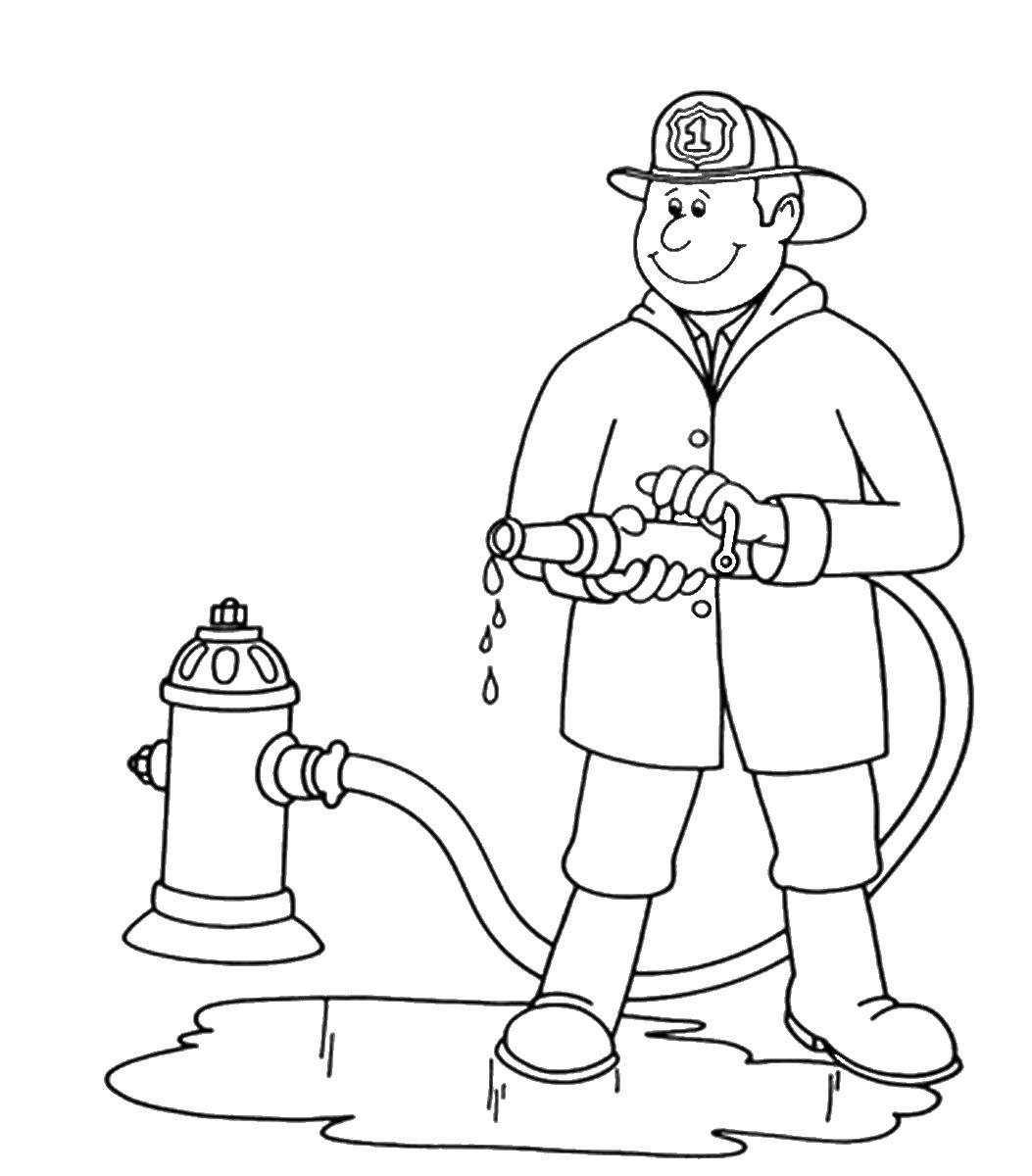 Fireman clipart outline. Free firefighter cliparts black