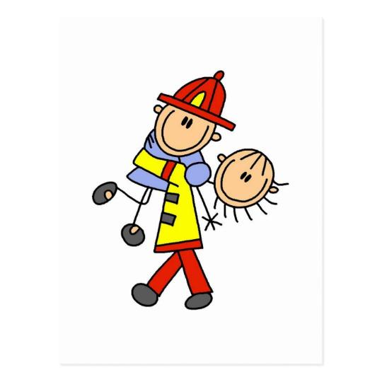 Stick figure saving lives. Firefighter clipart save a life
