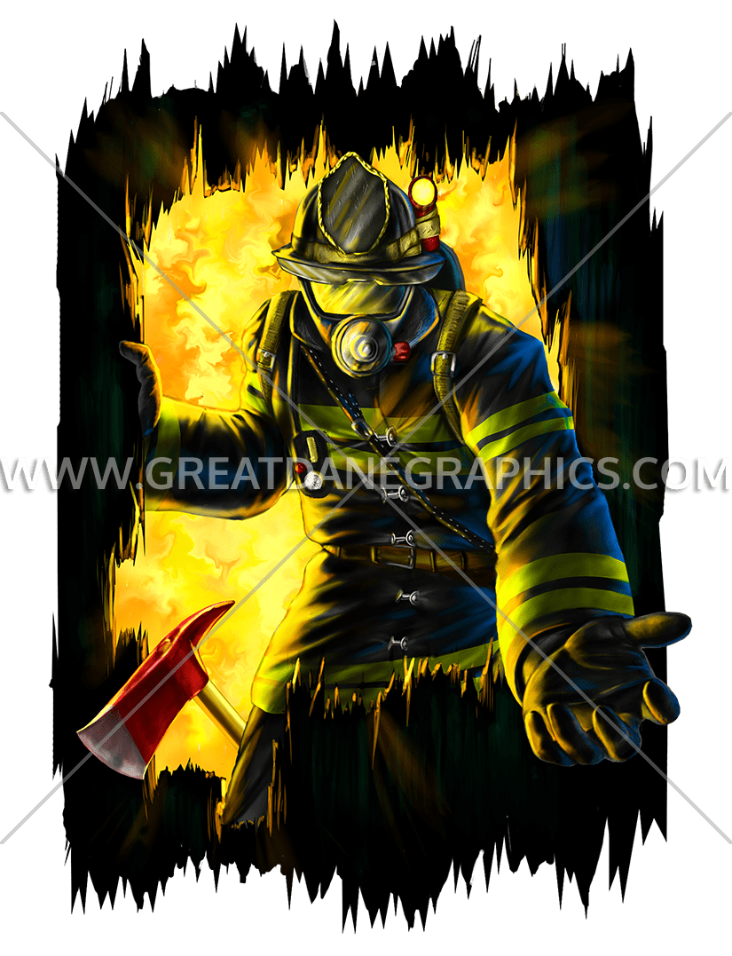 Production ready artwork for. Firefighter clipart search and rescue
