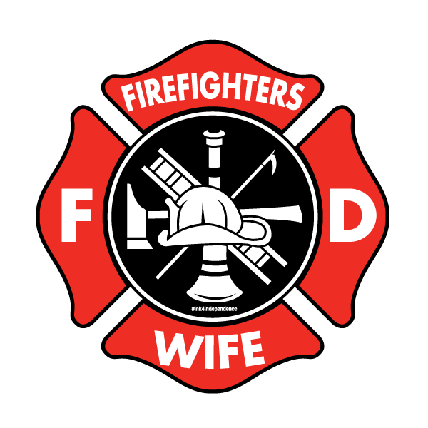 Wife decal ms carita. Firefighter clipart shield