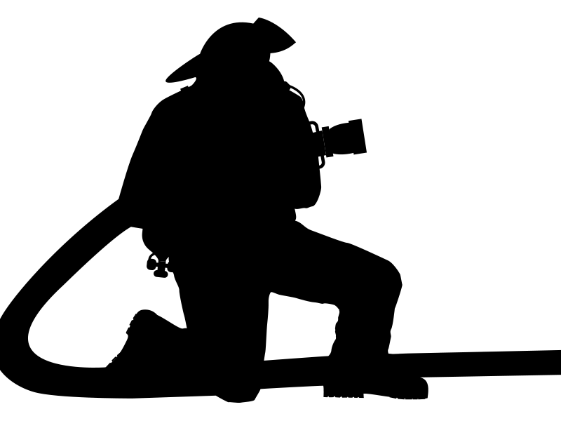 Firefighter clipart silhouette. Silhouettes clip art