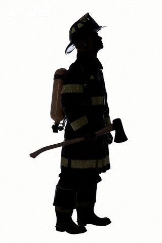 Of fireman signs wall. Firefighter clipart silhouette