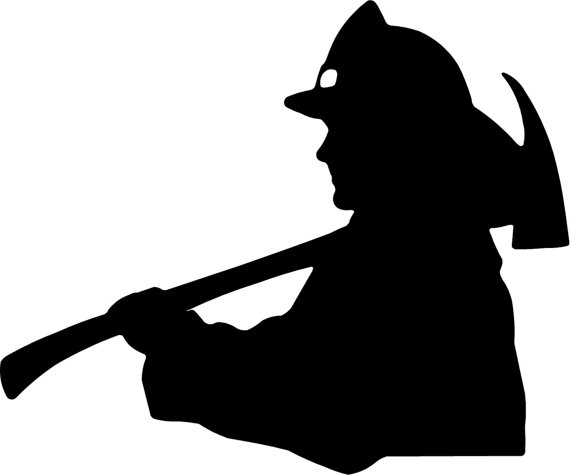 Firefighter clipart silhouette. Free cliparts download clip