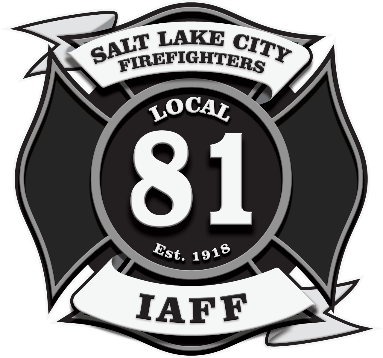 Salt lake city fire. Fireman clipart badge