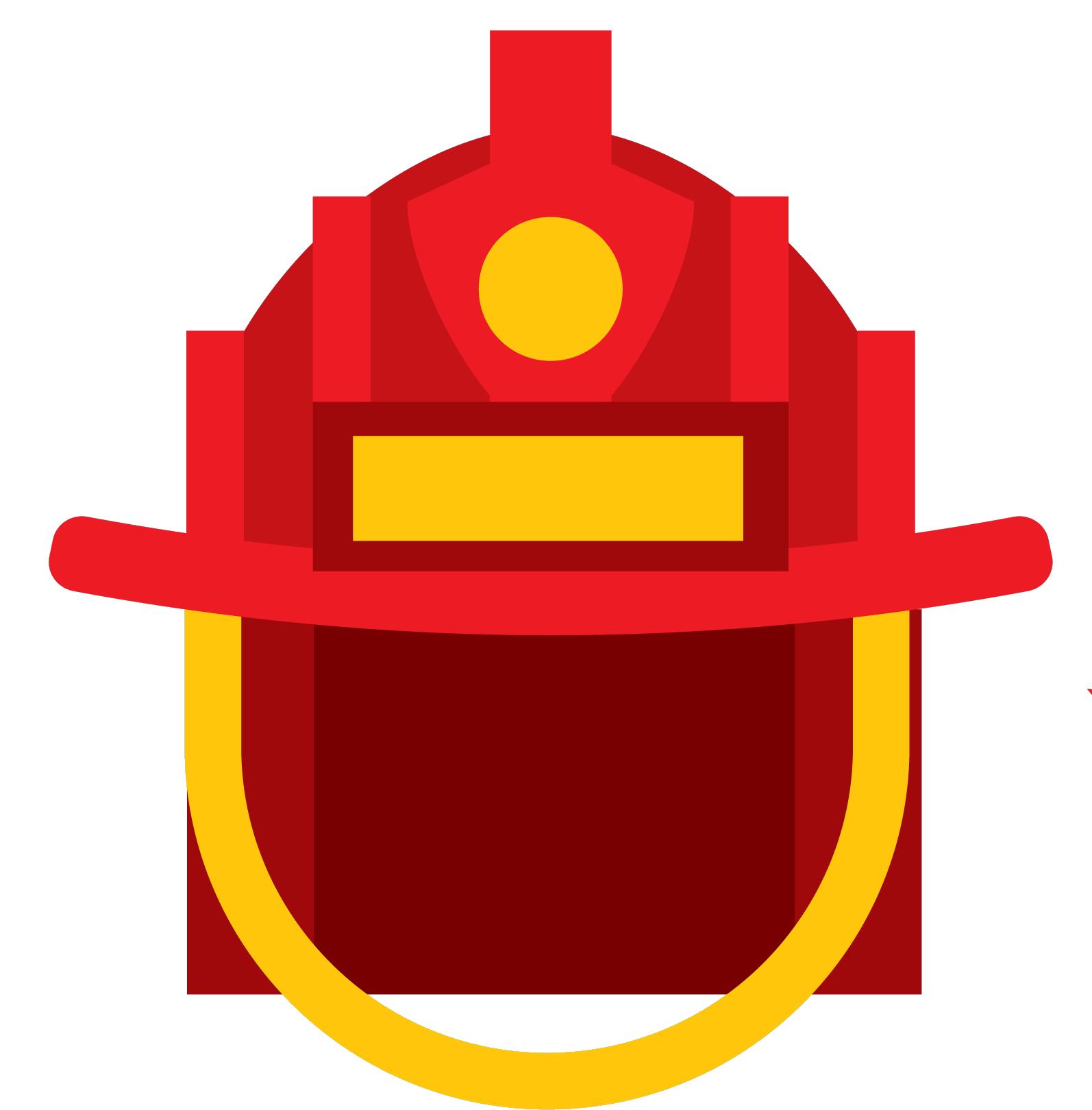 Firefighter clipart symbol. Helmet icon transprent