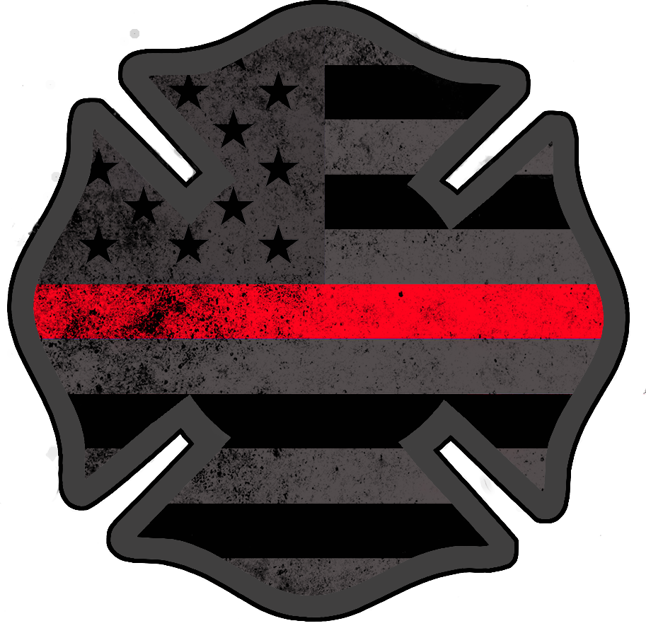 American subdued support decal. Firefighter clipart symbol