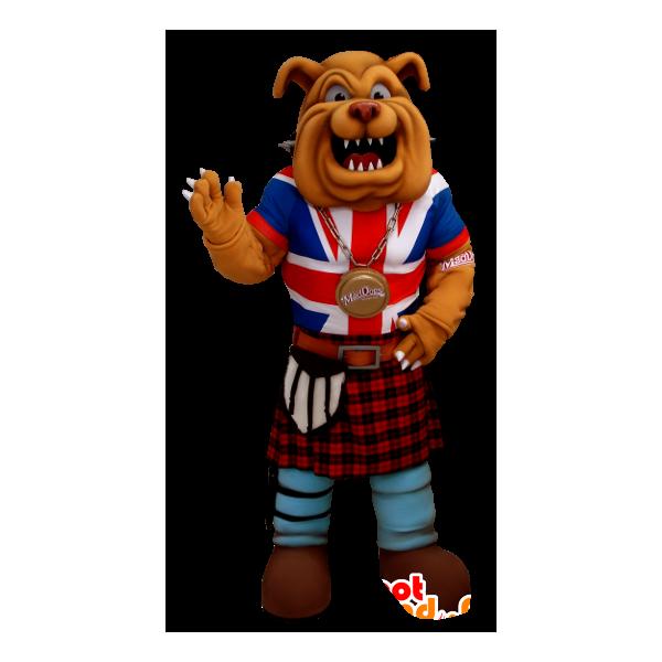 Purchase mascot bulldog dressed. Firefighter clipart uniform