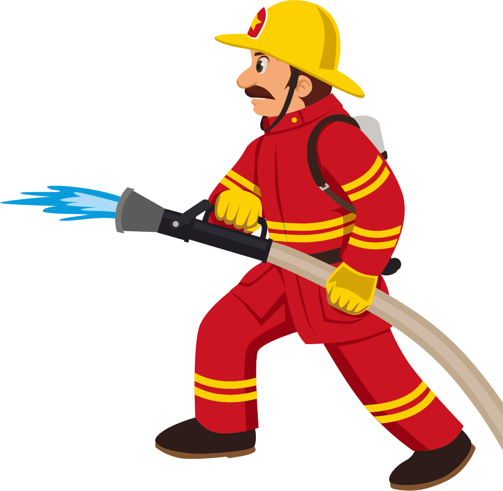Cartoon transprent png free. Fireman clipart worker indian