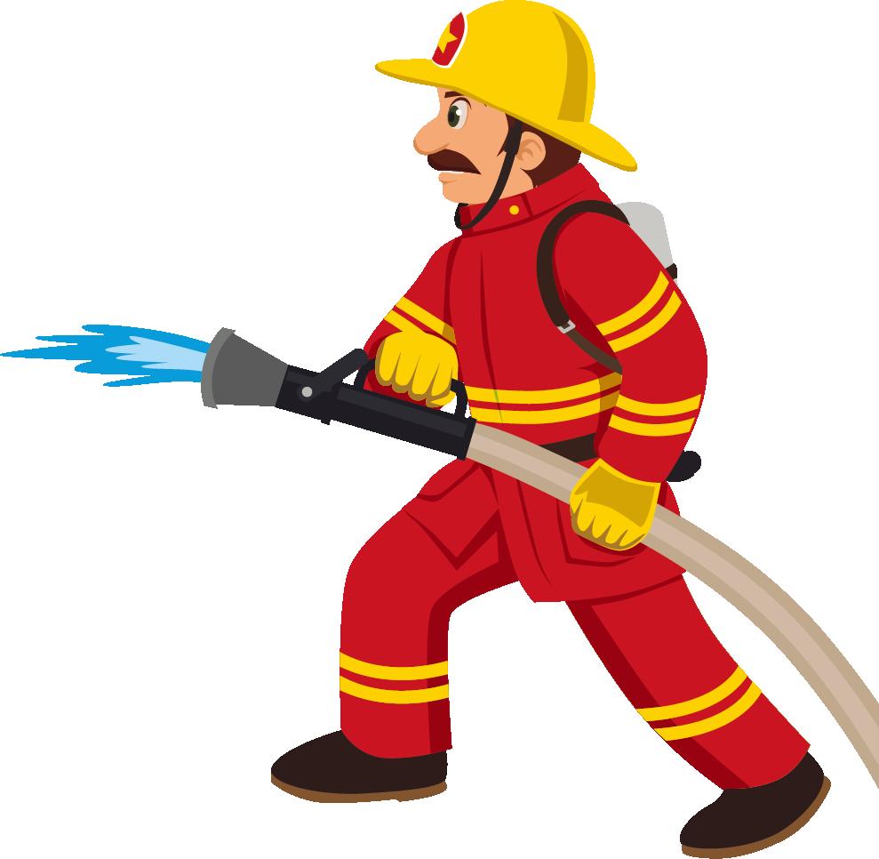 Cartoon fireman transprent png. Firefighter clipart uniform