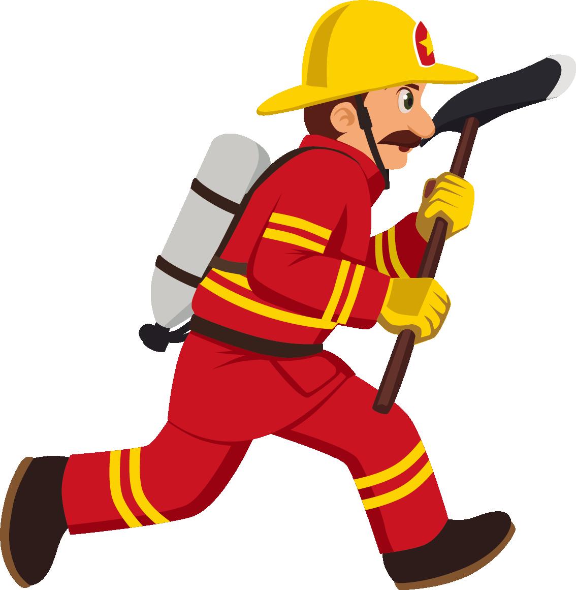 Firefighter clipart uniform. Cartoon royalty free illustration