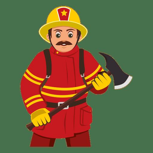 Fireman clipart vector. Firefighter carrying axe transparent