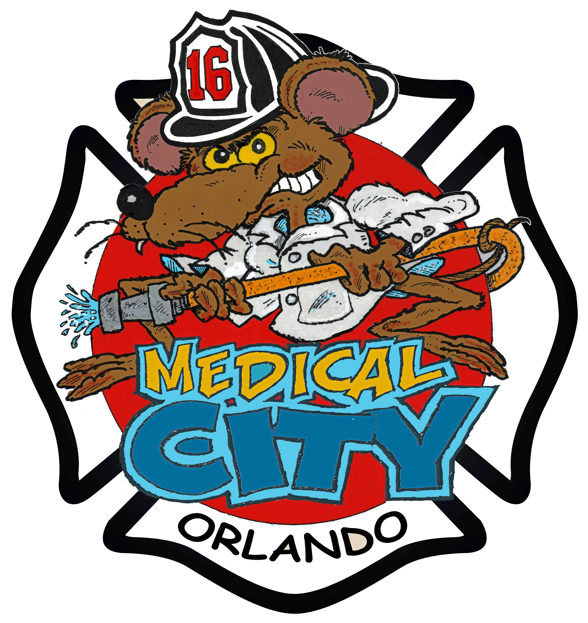 Orlando fire department station. Firefighter clipart water rescue