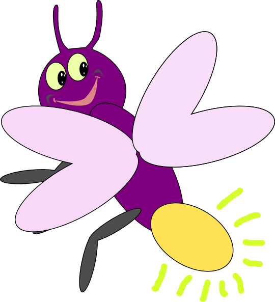 Purple clipart insect. Firefly clip art at