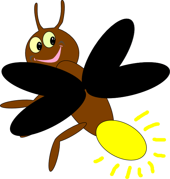 Collection of free fireflies. Lightning clipart cute