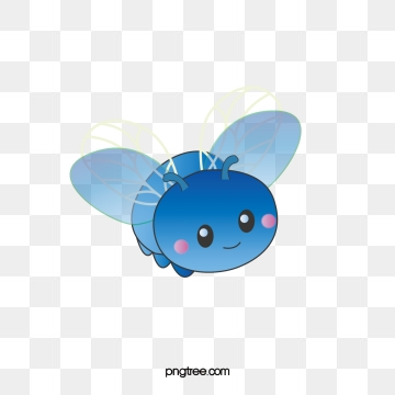 Firefly clipart blue bug. Png vector psd and