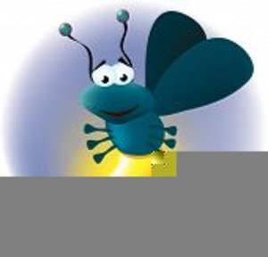 Animated fireflies free images. Firefly clipart blue bug