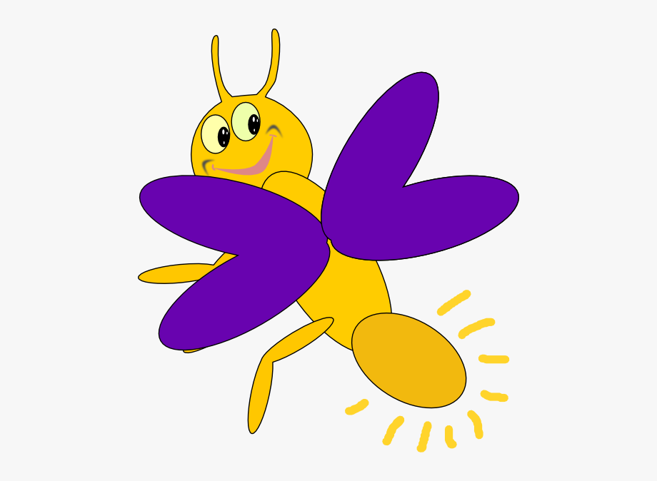 Lightning clip art insect. Firefly clipart blue bug