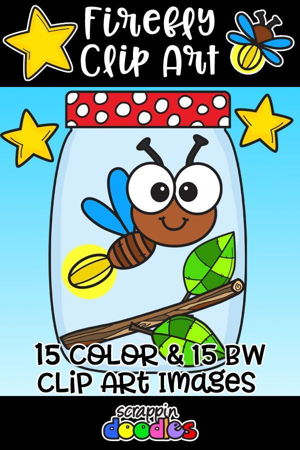 Firefly clipart colorful. Fun fireflies banner doodle