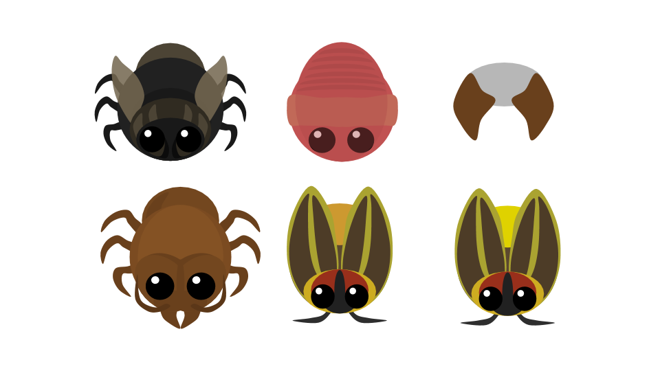 Fly earthworm soldier ant. Firefly clipart flying