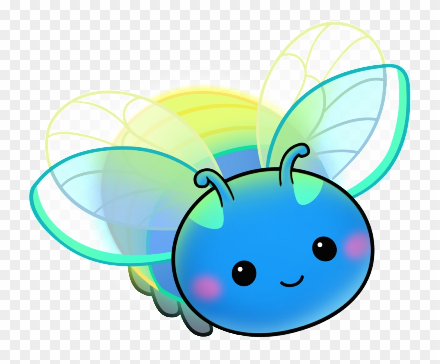 Cartoon cute animals drawings. Firefly clipart green bug