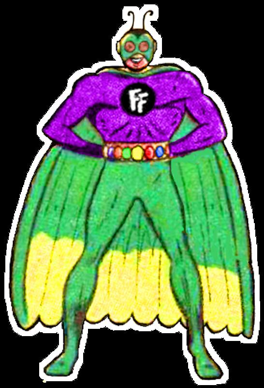 Firefly clipart green bug. Misfit robot daydream batman