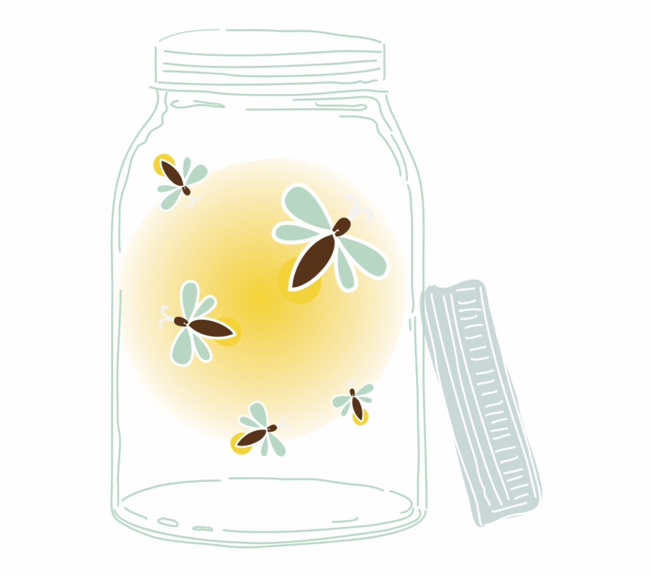 Pin mason with fireflies. Firefly clipart jar drawing