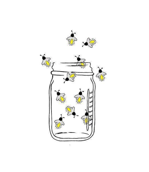 Firefly clipart jar drawing. Mason image fireflies lightning