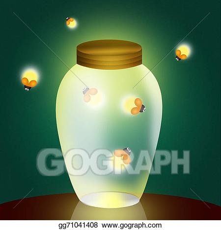 Firefly clipart jar illustration. Stock illustrations fireflies in