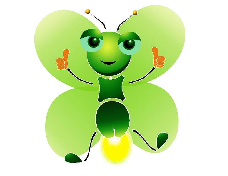 Firefly clipart jar illustration. Butterfly cartoon light green