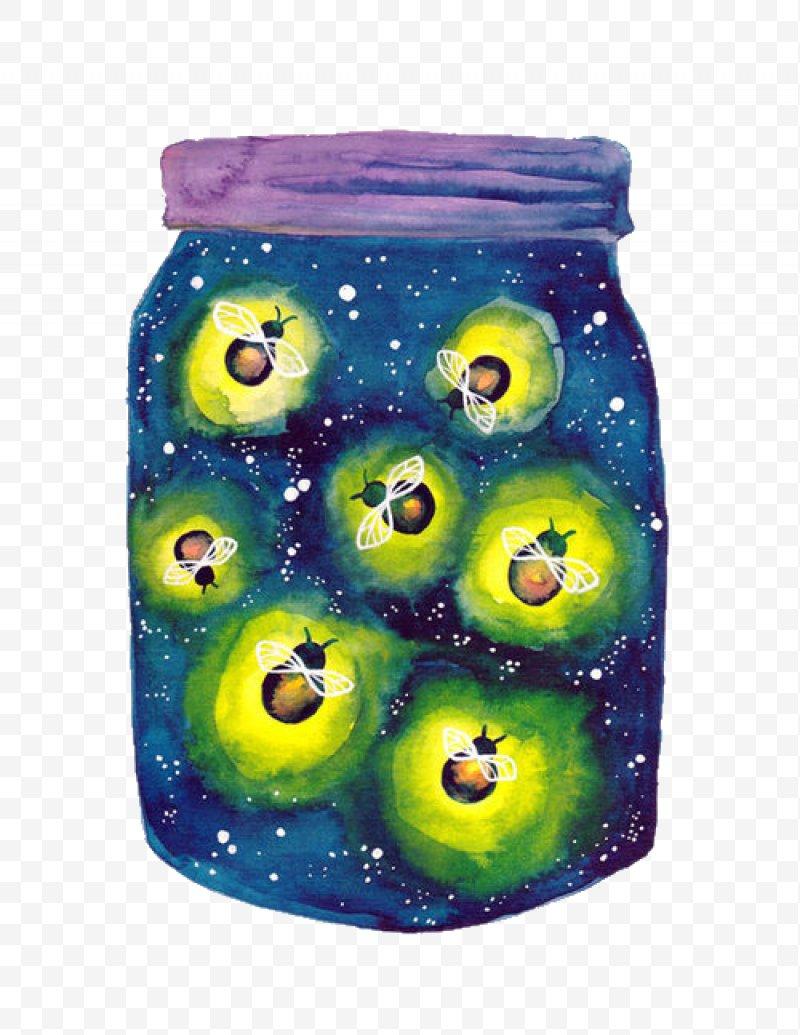 Mason light clip art. Firefly clipart jar illustration
