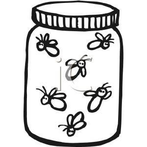 Drawing free download best. Firefly clipart jar sketch