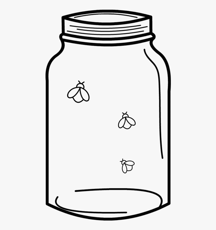 Free cut file download. Firefly clipart mason jar