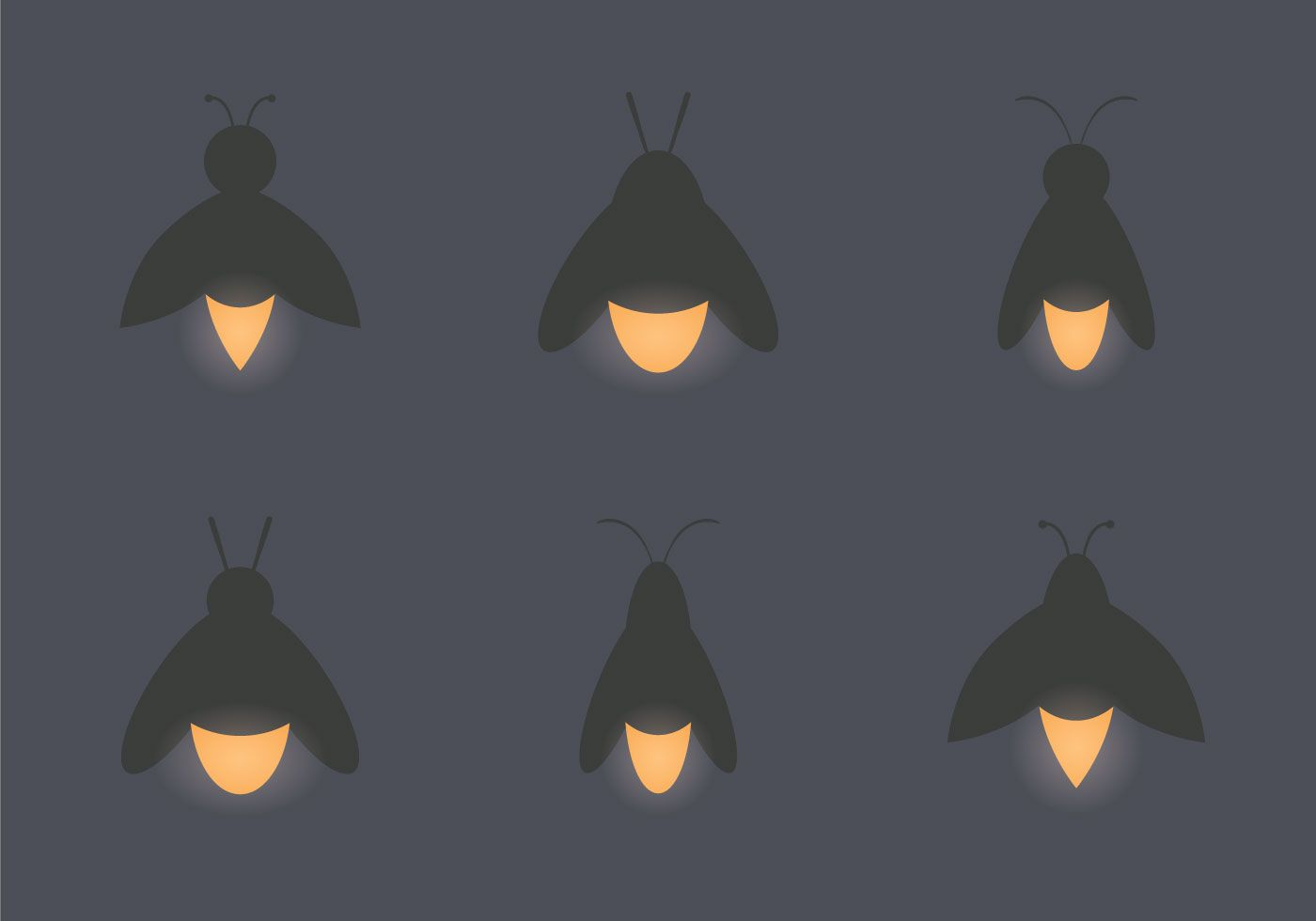 Firefly clipart vector. Free illustration choose from
