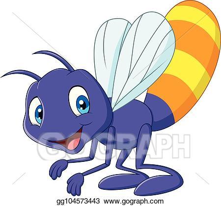 Firefly clipart vector. Cartoon funny illustration