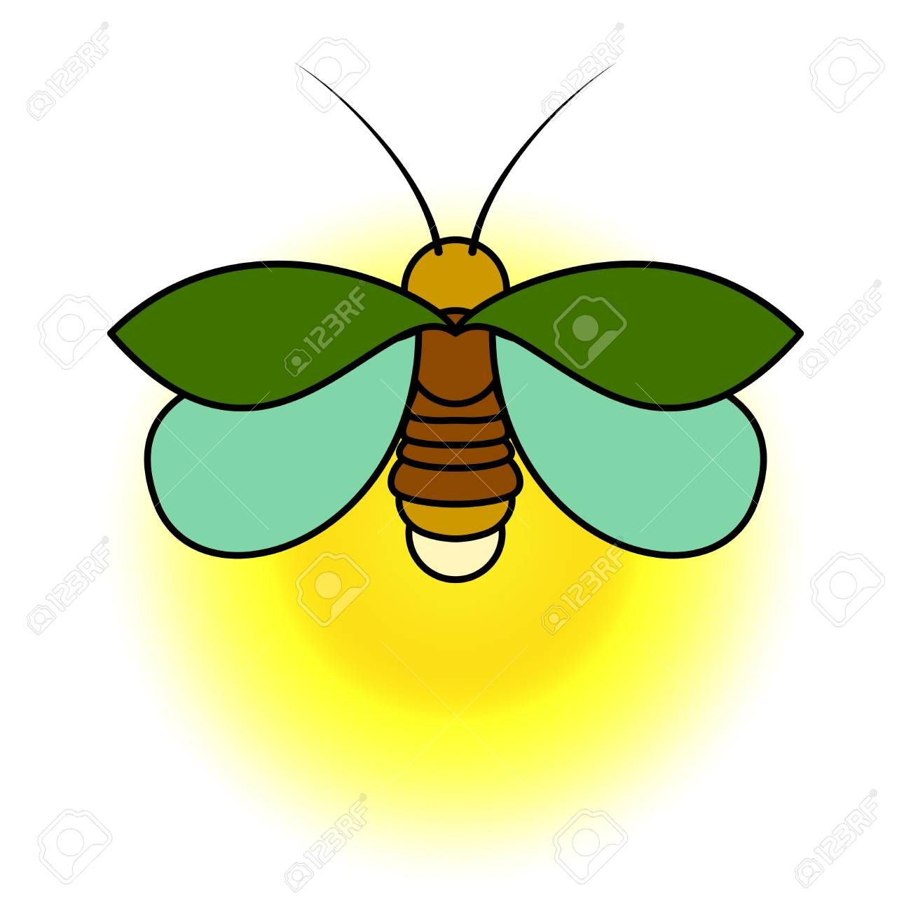 Stock art drawing drawings. Firefly clipart vector