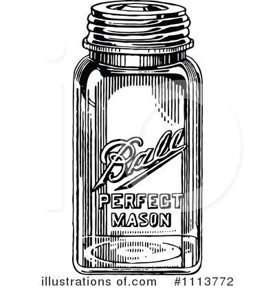Mason jar clip art. Firefly clipart vintage