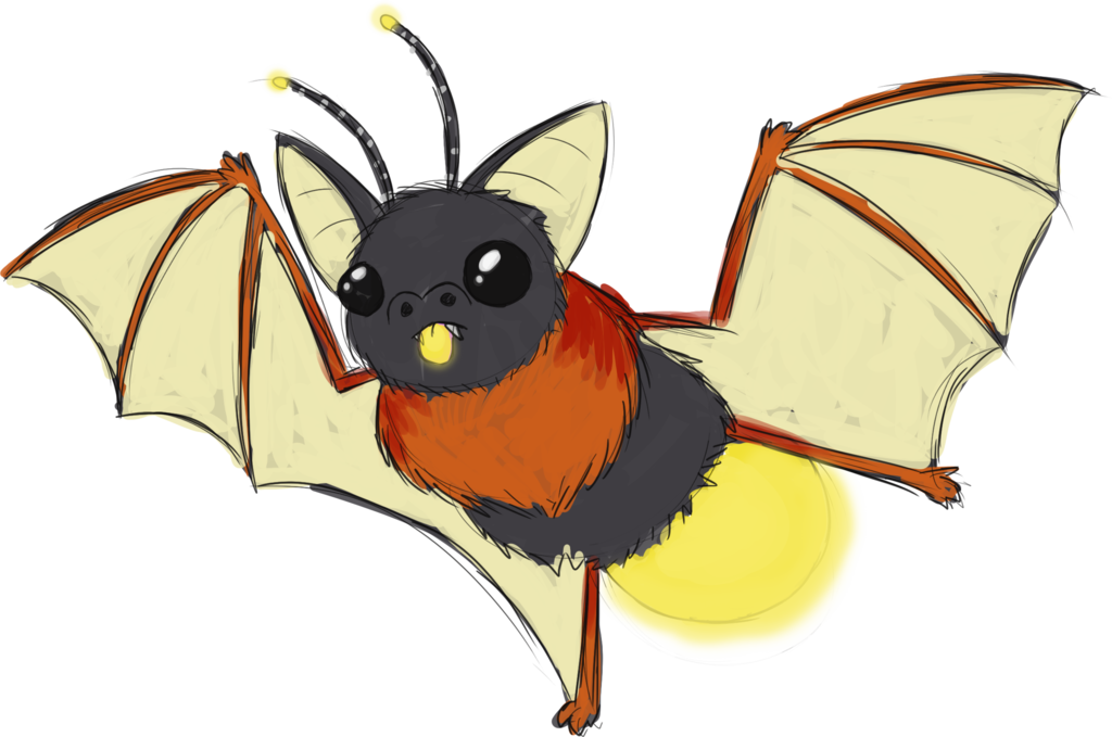 Insects clipart firefly. Bat fusion by chipflake
