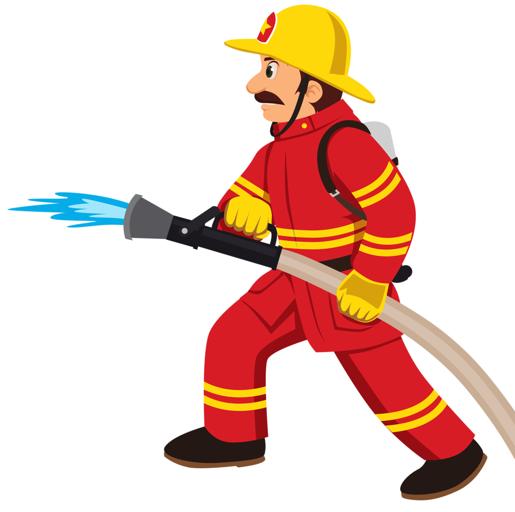Lady clipart firefighter.  png firemen clip