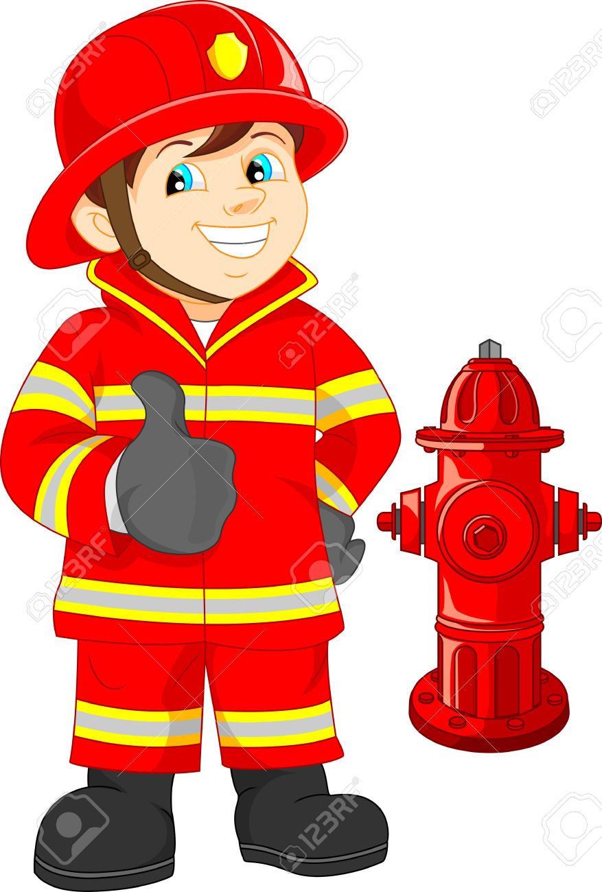fire fighter cartoon. Fireman clipart